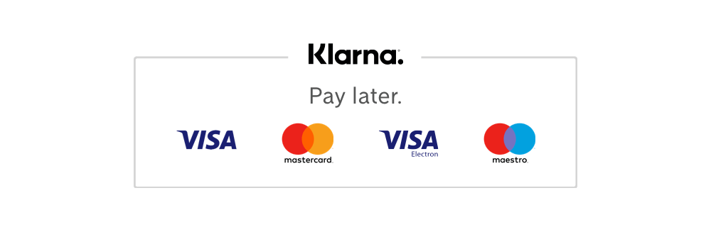 This shop supports payment via Klarna Checkout.