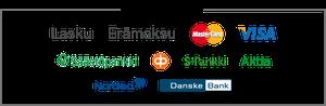 verkkokaupan maksutavat logo