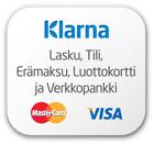 This shop supports payment via Klarna.