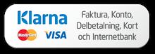 Klarna Checkout: Faktura, Delbetalning, Kort och Internetbank